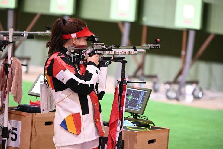 Laura Ilie a ratat absolut dramatic intrarea în finala probei de pușcă 10 m aer comprimat / foto: Raed Krishan