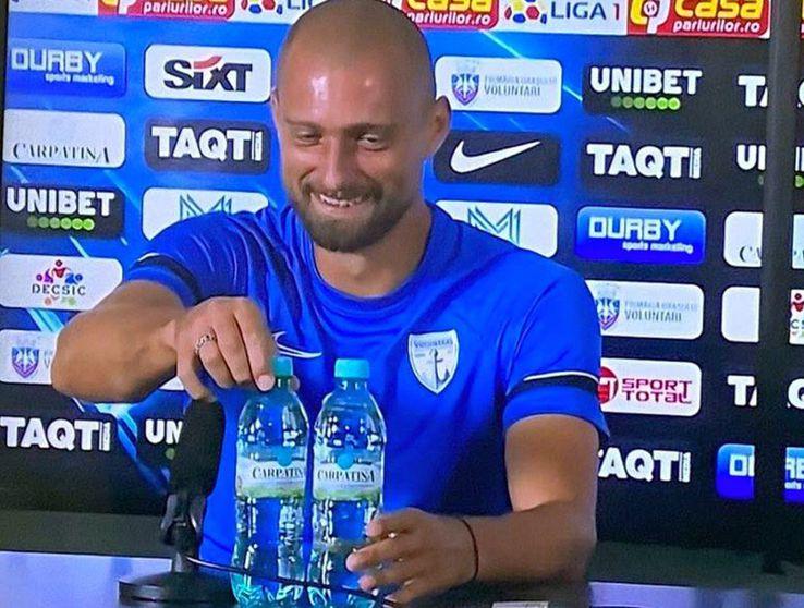 Gabi Tamaș a imitat gestul lui Cristiano Ronaldo / Captură Digi Sport
