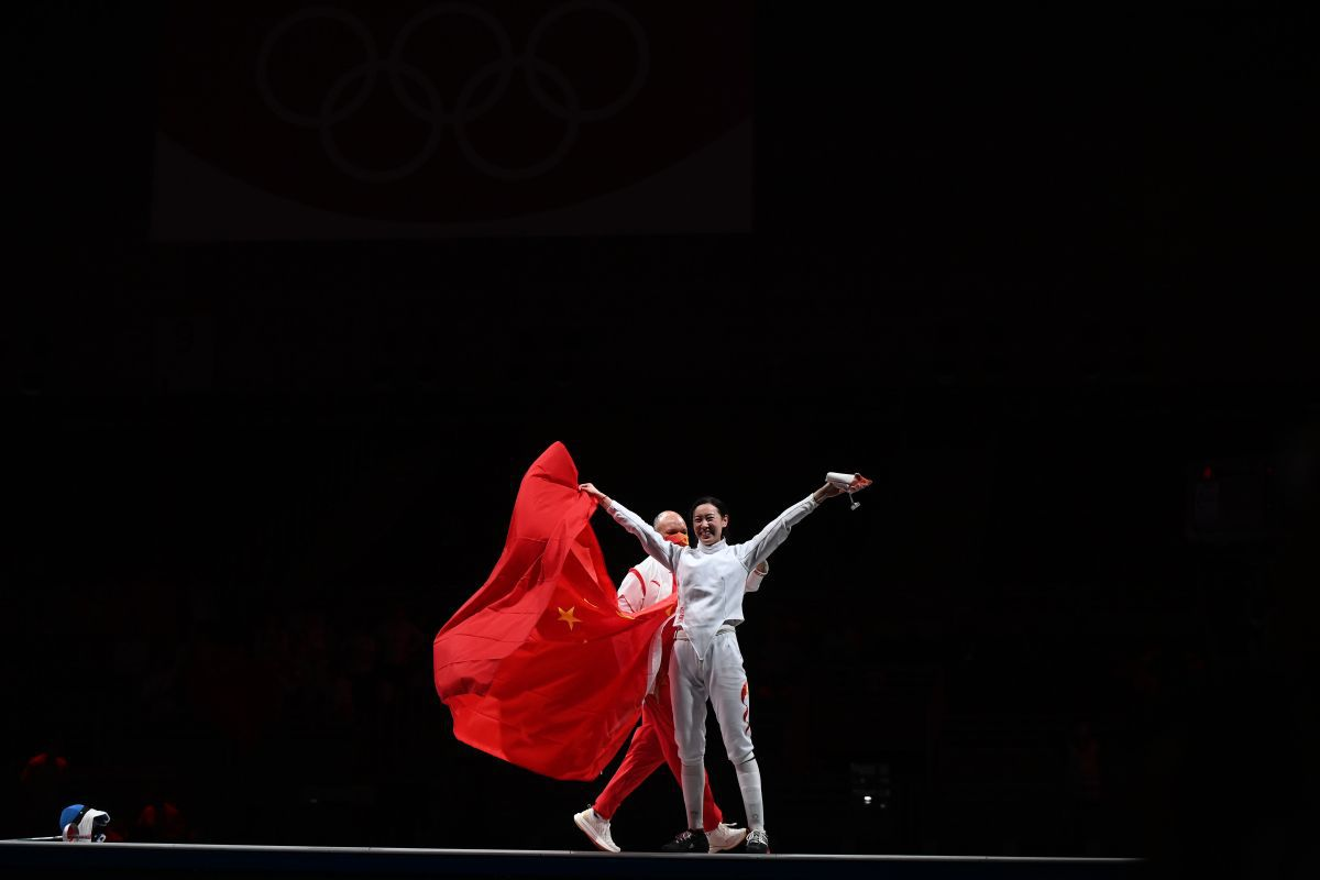 Finala de la spadă la Jocurile Olimpice: Ana Maria Popescu - Sun Yiwen 10-11 + medalia de argint