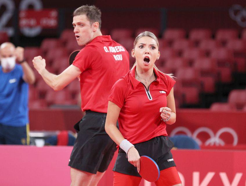 Perechea Bernadette Szocs și Ovidiu Ionescu s-a calificat în sferturi la tenis de masă, foto: Guliver/gettyimages