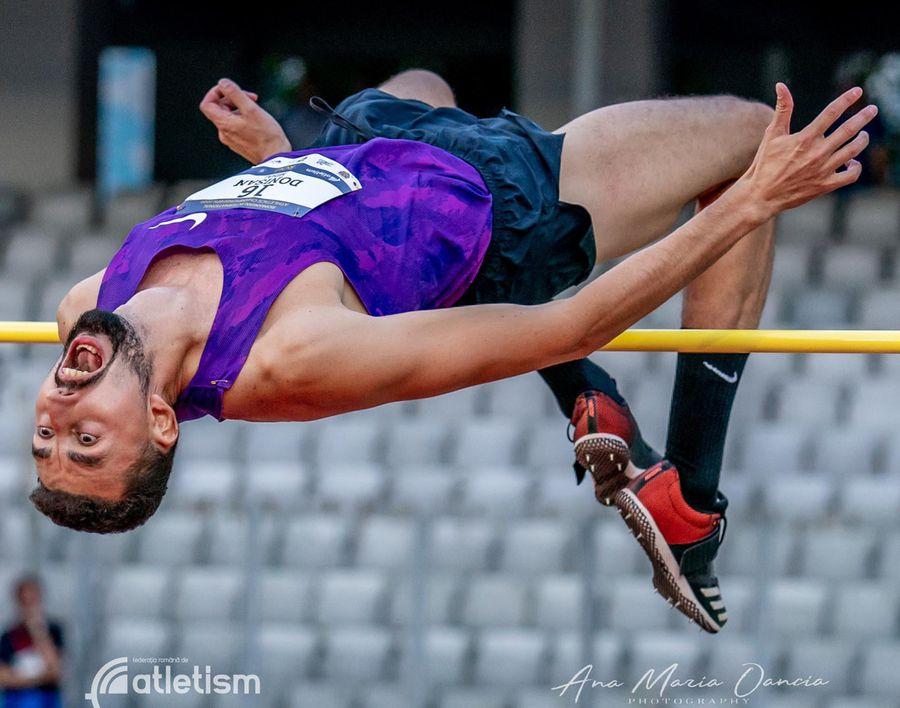Mihai Donișan nu are rival la săritura în înălțime FOTO FR Atletism