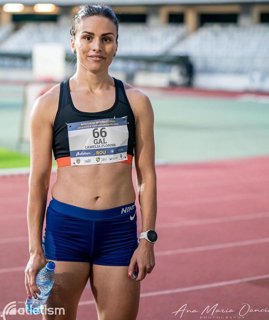Camelia Gal, performera de la 400 de metri plat FOTO FR Atletism