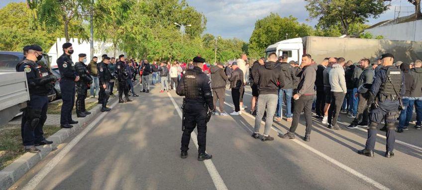Au fost incidente la Timișoara între fanii lui ASU Poli și cei ai lui Dinamo / Foto: Jandarmeria Timiș