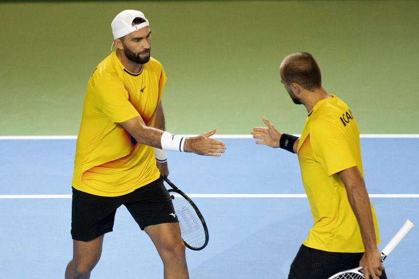 Tecău și Copil au fost decisivi în victoria cu Portugalia / Sursă foto: Facebook Romania Davis Cup Team