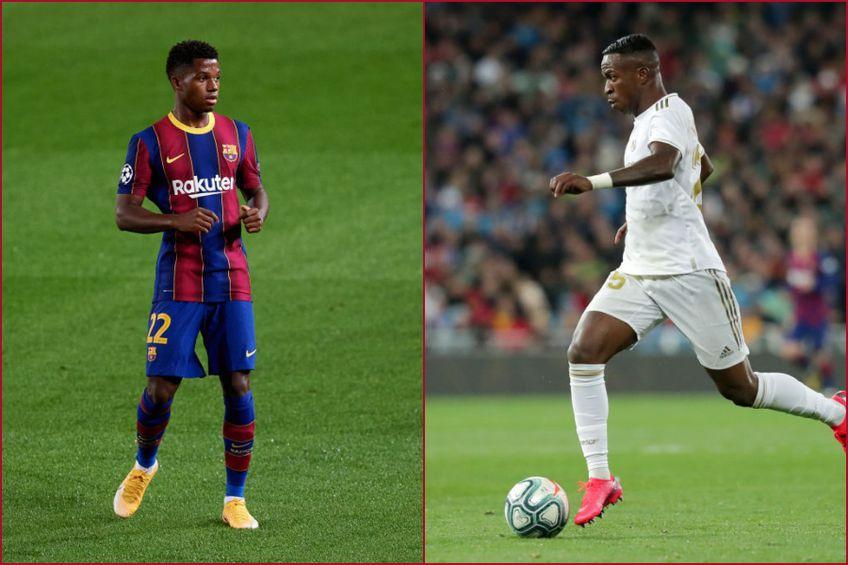 Barcelona - Real Madrid. Ansu Fati și Vinicius Jr. vor să strălucească în El Clascio