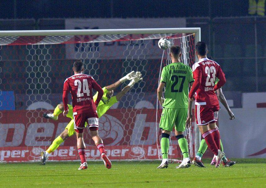 Golul lui Anass Achahbar cu Dinamo // foto: Cristi Preda