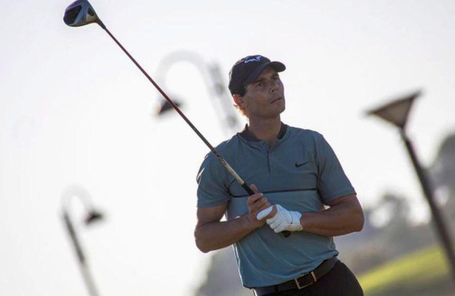 Rafael Nadal participă la o competiție profesionistă de golf. foto: Guliver/Getty Images