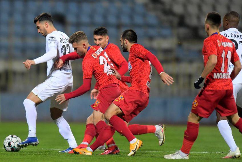 FCSB a învins-o pe Gaz Metan, scor 3-2, în ultimul meci al rundei cu numărul 11 din Liga 1