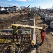 Stadiul lucrărilor la stadionul din Târgoviște în ianuarie 2020