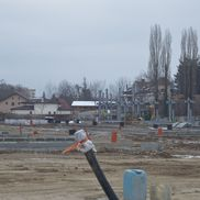 Stadiul lucrărilor la stadionul din Târgoviște în februarie 2021