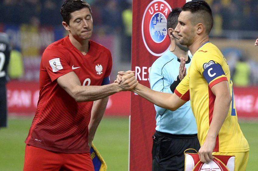 Robert Lewandowski, în meciul România - Polonia din 2016 / Sursă foto: GSP