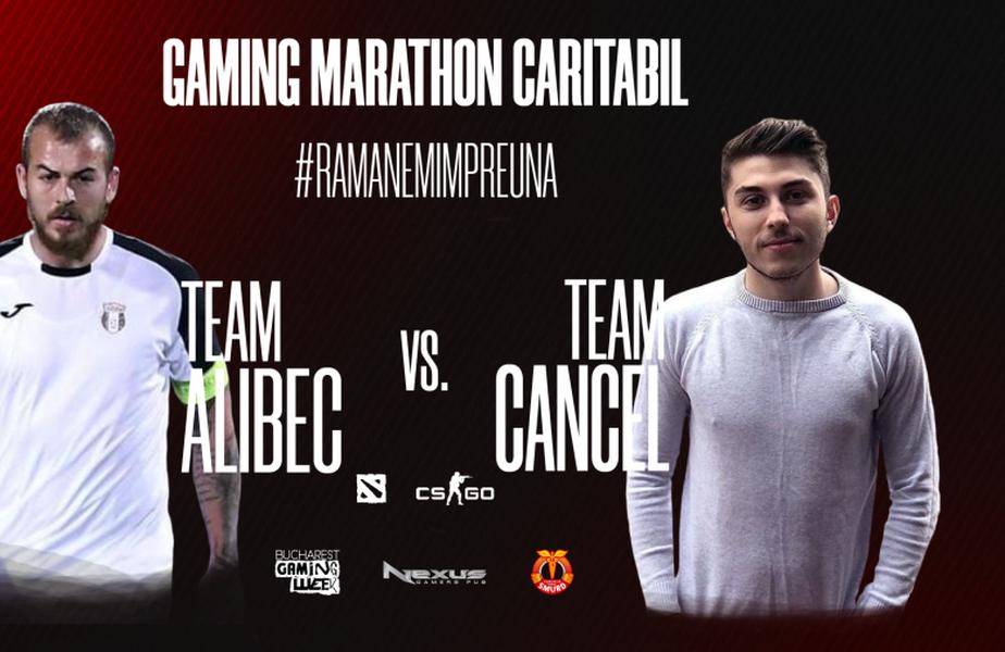 Team Alibec vs Team Cancel, în maratonul de gaming caritabil