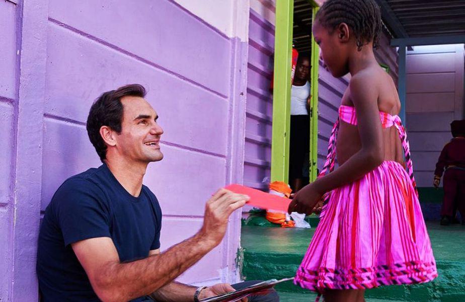 Roger Federer s-a implicat dintotdeauna în acțiuni caritabile. Sursă foto: Instagram Roger Federer