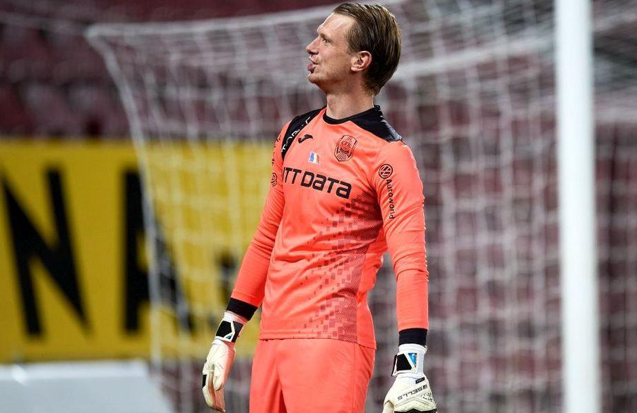 Portarul Giedrius Arlauskis de la CFR Cluj a fost ales în echipa sezonului din Europa League.