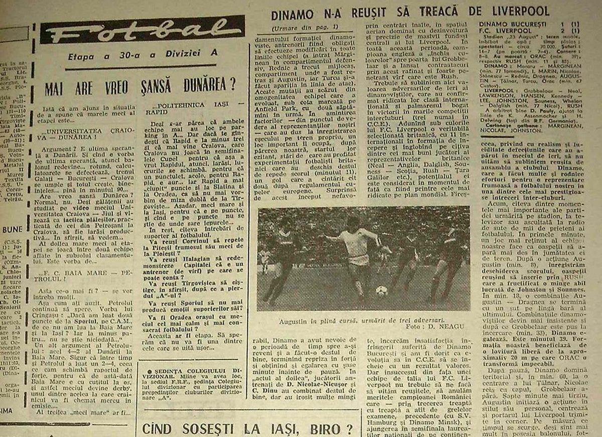 """RETRO GSP. Dinu aruncă în aer cea mai mare performanță europeană a lui Dinamo: """"Problema cu Liverpool a fost că n-am mai putut să umblăm la arbitri! N-a mai fost loc pentru căței"""""""
