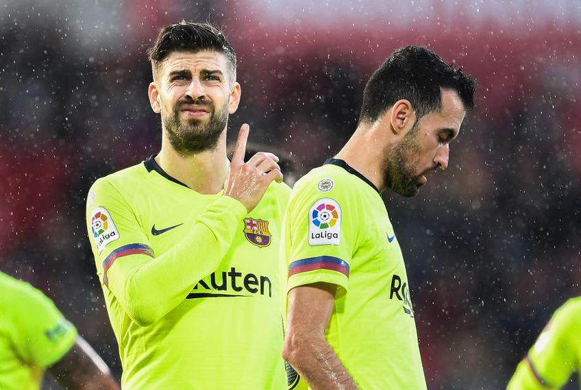 Pique și Busquets, doi jucători de bază la Barcelona, foto: Guliver/gettyimages