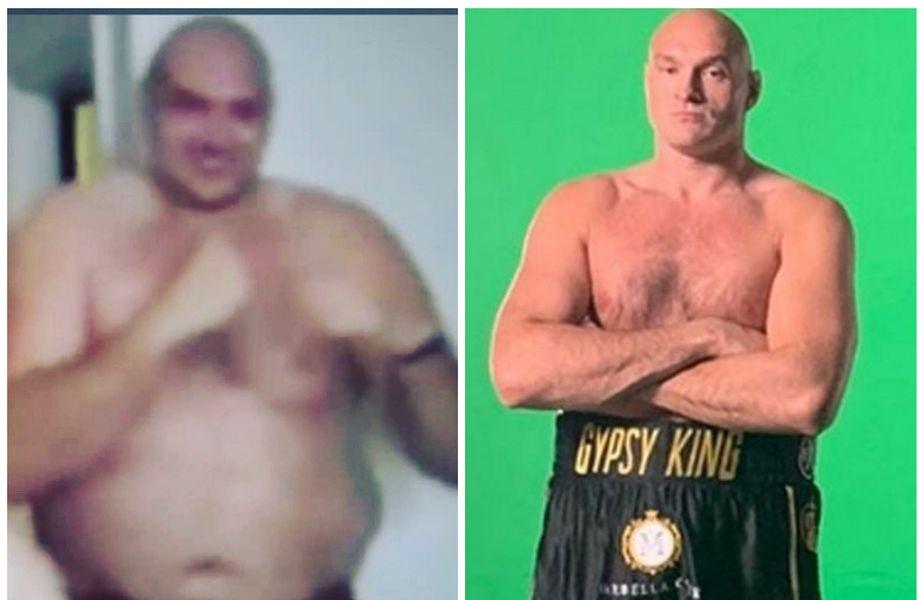 Tyson Fury, înainte și după slăbire