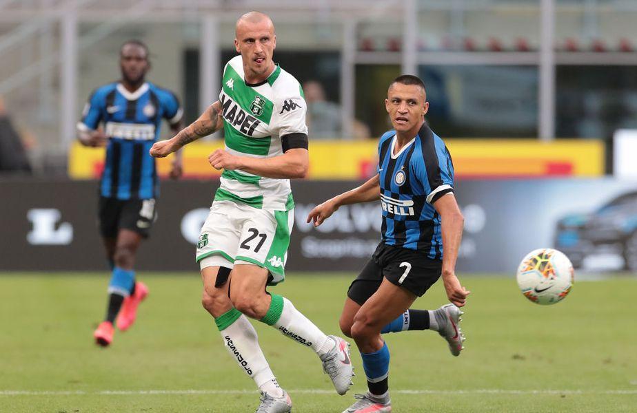 Integralist la Sassuolo, Vlad Chiricheș a primit nota 6,5 în Gazzetta dello Sport pentru evoluția din meciul cu Inter, scor 3-3. Foto: Guliver/GettyImages