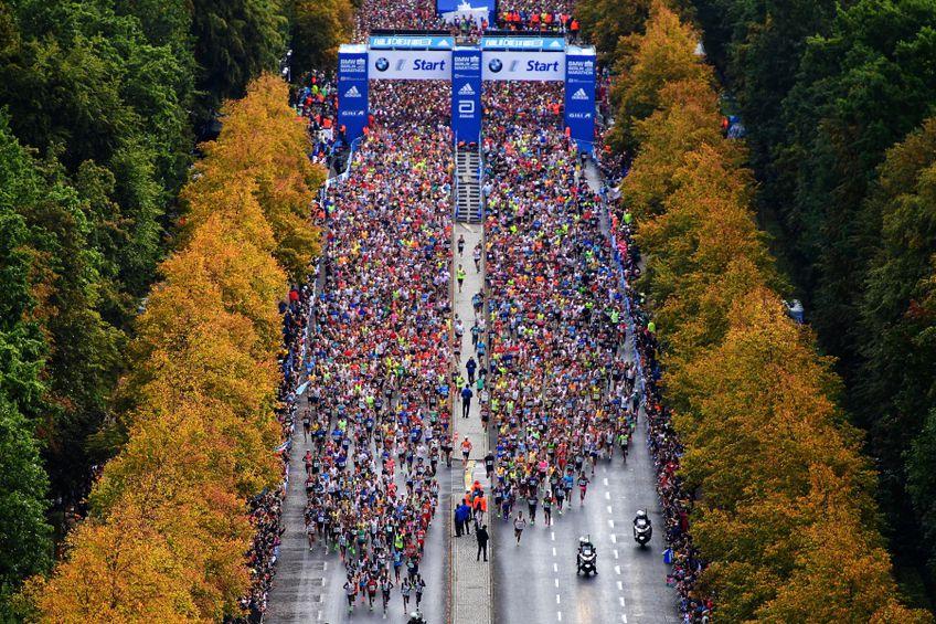 Startul maratonului de la Berlin în 2019 văzut de sus FOTO Guliver/GettyImages