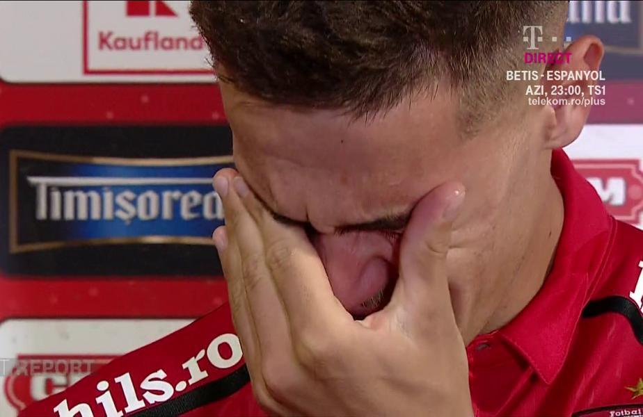 Ricardo Grigore, în lacrimi după Dinamo - FCSB 0-3