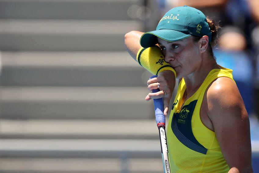 Ashleigh Barty, favorita principală a întrecerii de tenis feminin de la Jocurile Olimpice, a fost eliminată / foto: Guliver/Getty Images
