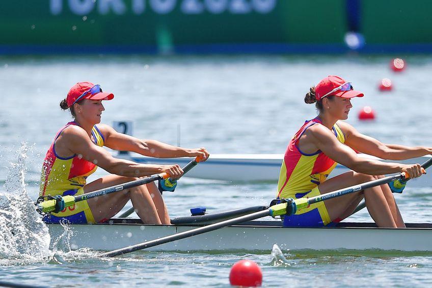 Simona Radiș și Ancuța Bodnar s-a calificat triumfător în finala probei de dublu vâsle / foto: Raed Krishan - Tokyo