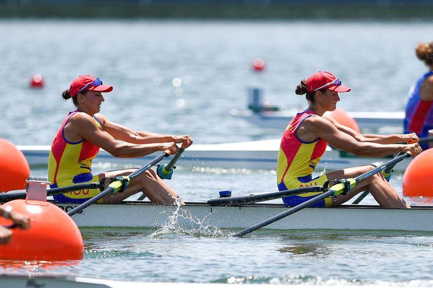 Simona Radiș și Ancuța Bodnar s-au calificat triumfător în finala probei de dublu vâsle / foto: Raed Krishan - Tokyo