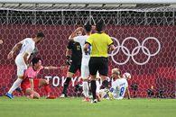Ghinion pentru naționala olimpică! Marius Marin a trimis mingea în proprie poartă în minutul 27