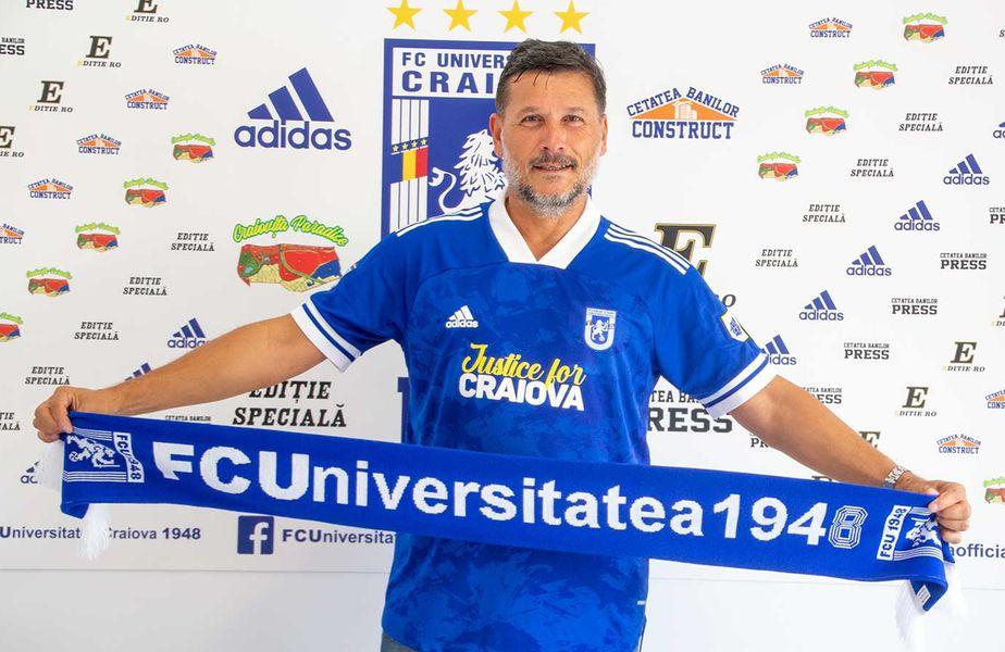 Italianul Nicolo Napoli (58 de ani) a fost prezentat oficial la U Craiova 1948.