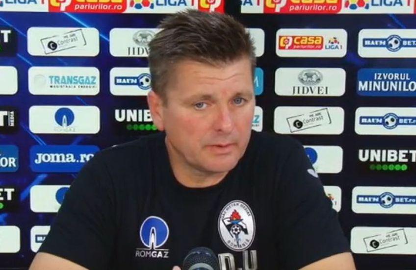 Dusan Uhrin Jr., antrenor Gaz Metan Mediaș