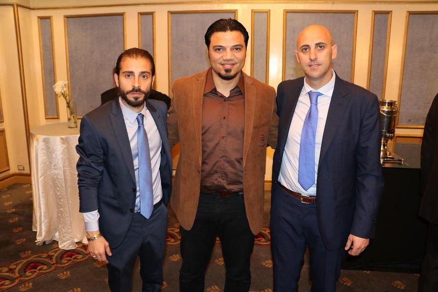 Almoukri, Elzayat și Rufo Collado, poză postată pe site-ul Nasmeca la anunțul privind deschiderea de academii în Egipt