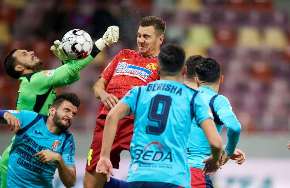Miron este ultimul jucător care a debutat la FCSB, când a și marcat în meciul cu Chindia FOTO Raed Krishan