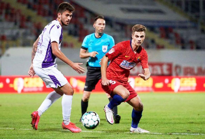 Gabriel Simion, mijlocașul la închidere de la FCSB, are doar 22 de ani, dar are cifre comparabile cu ale celor mai buni jucători pe postul lui în Europa!