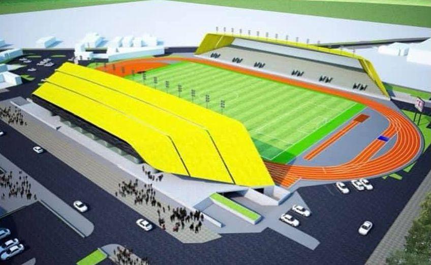 Valentin Badea, 38 de ani, conducătorul Academiei din Alexandria, a postat imagini recente de la șantierul unde se contruiește noul stadion din Teleorman.