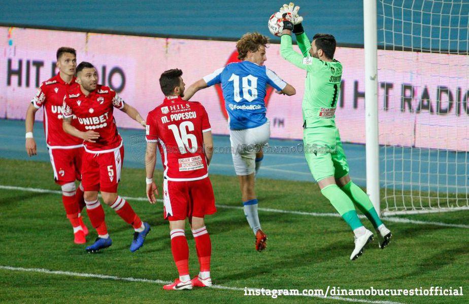 Cătălin Straton (numărul 1) / Foto: Facebook @Dinamo București