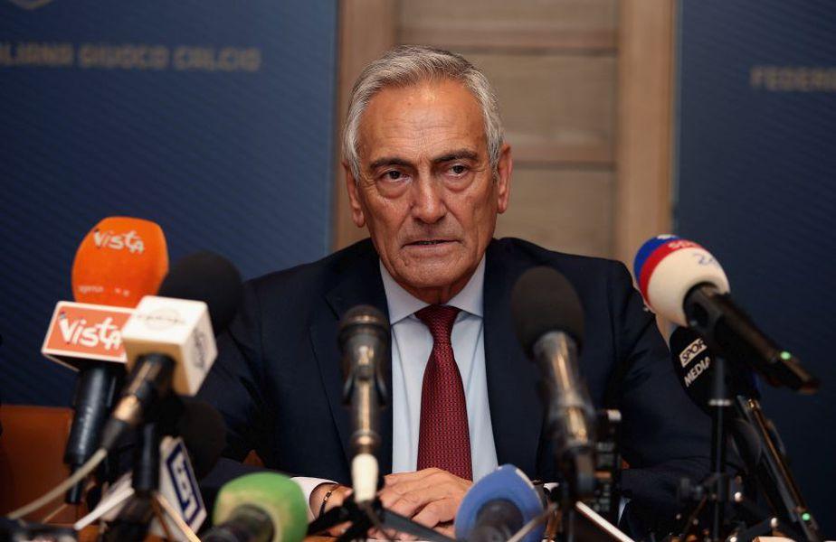 Gabriele Garvina, președintele Federației din Italia, încă mai speră ca sezonul de fotbal să fie reluat