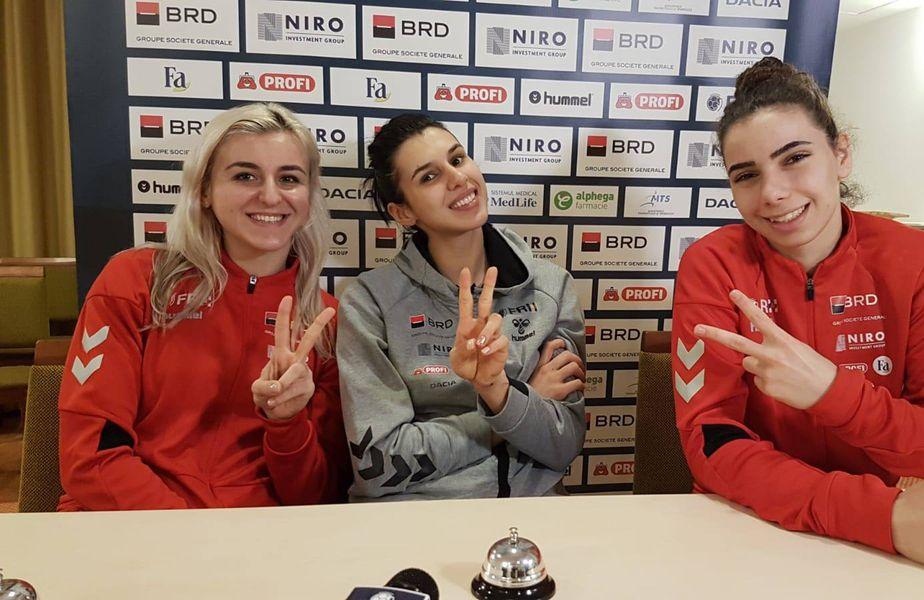 Cei trei portari ai lotului feminin au răspuns la o serie de întrebări care nu au neapărat legătură cu handbalul