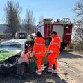 Accidentul petrecut la PS2 în Raliul Brașovului // foto: raliulbrasovului.ro