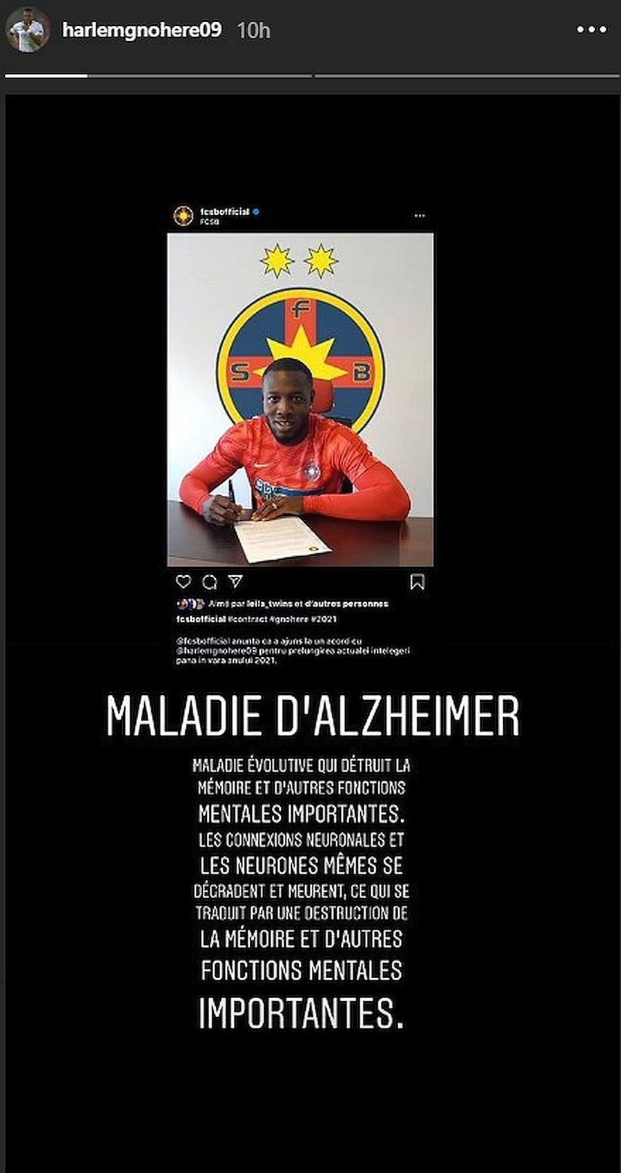 FCSB. Harlem Gnohere, atac frontal la Gigi Becali?! Postare controversată pe Instagram
