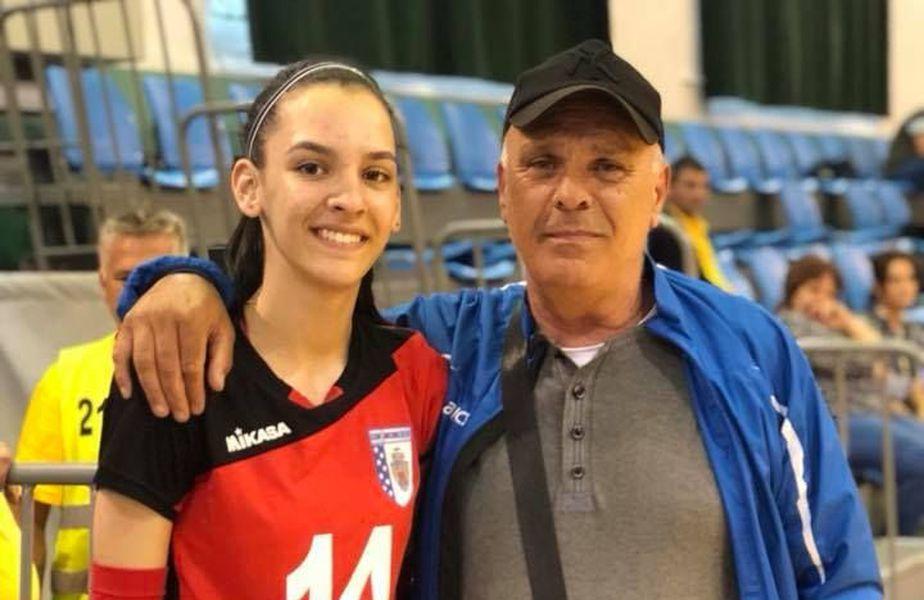 Sandu Kapelovics si nepoata sa, Alexia Căruțașu, cea mai bună voleibalistă din Europa la categoria sa de vârstă (17 ani)