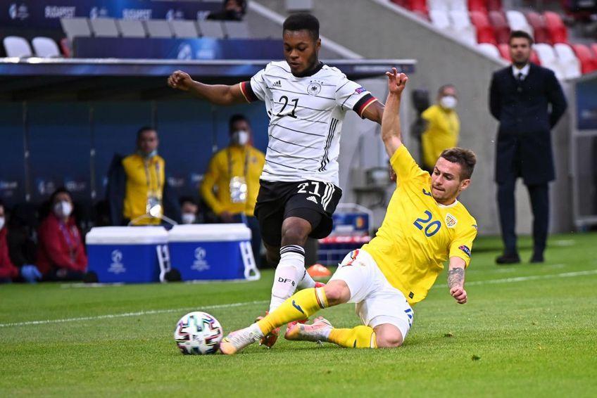 Alexandru Mățan (în galben) face parte din lotul selecționatei U23