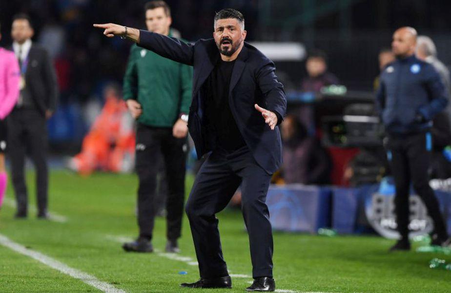 Gennaro Gattuso, antrenorul lui Napoli, și-a atenționat jucătorii înaintea meciului cu Barcelona din Liga Campionilor // Sursă foto: Getty