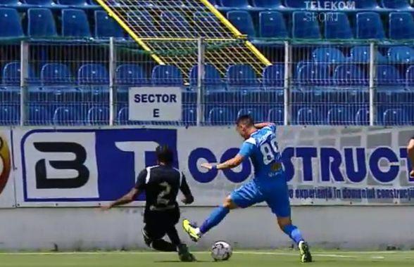 CLINCENI - POLI IAȘI. FOTO Cabral, jucătorul retestat negativ, a comis penalty în minutul 7!