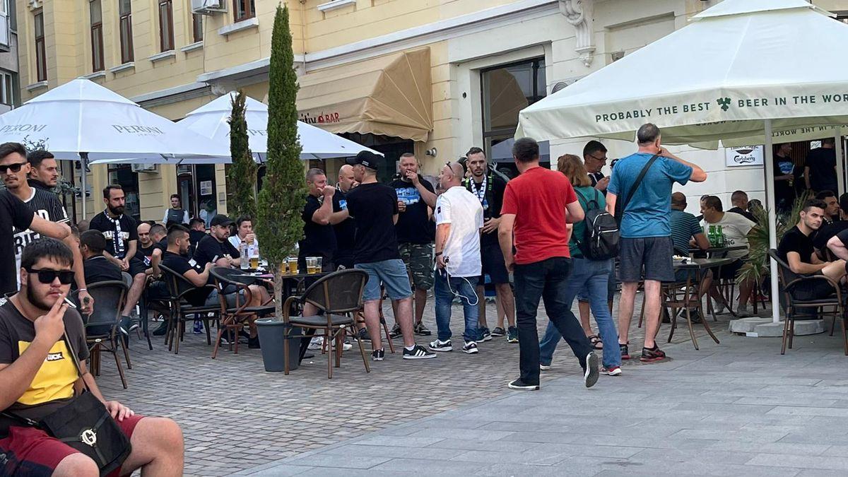 FOTO FCU Craiova - Dinamo, meci și fani în centrul orașului 26.07.2021