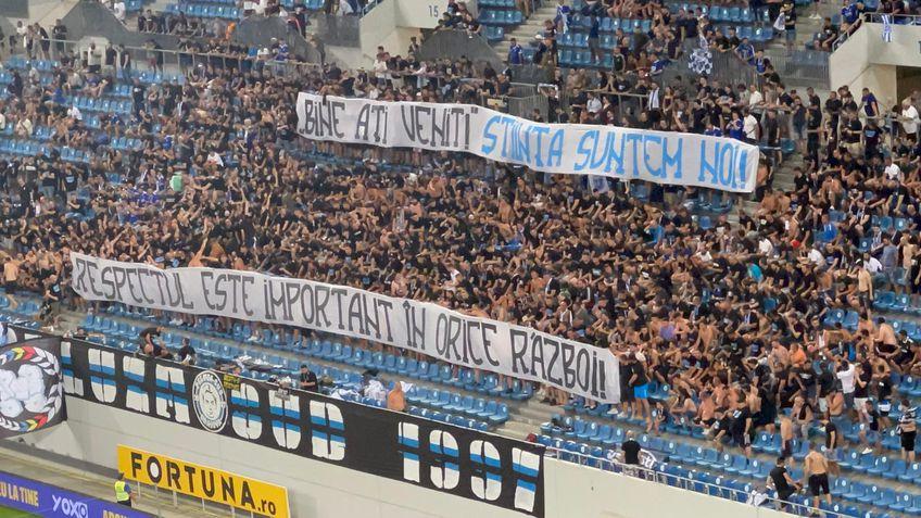 Bannerul celor de la FCU la meciul cu Dinamo