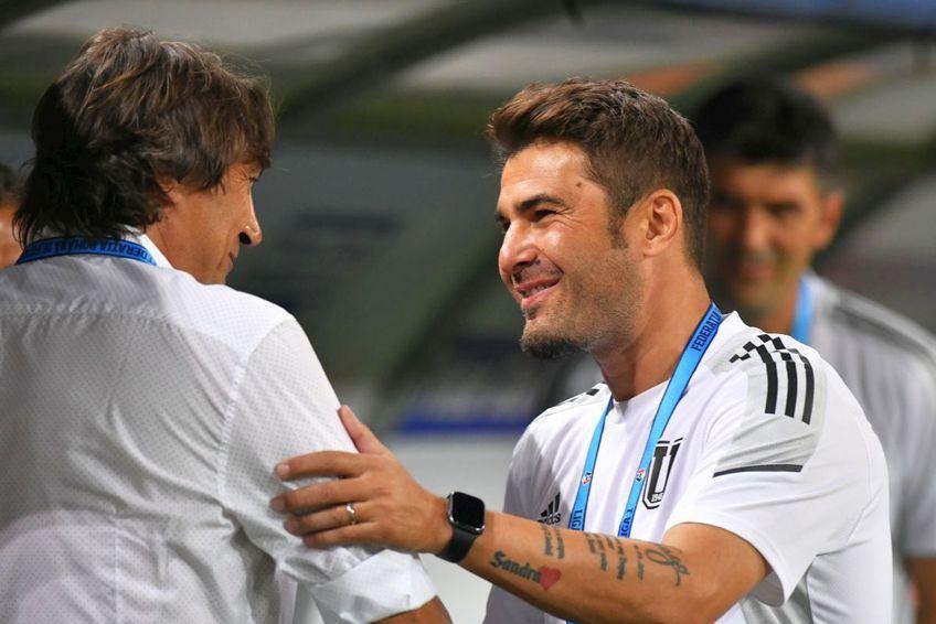 Dario Bonetti și Mutu s-au salutat înainte de startul meciului / foto: Cristi Preda (GSP)