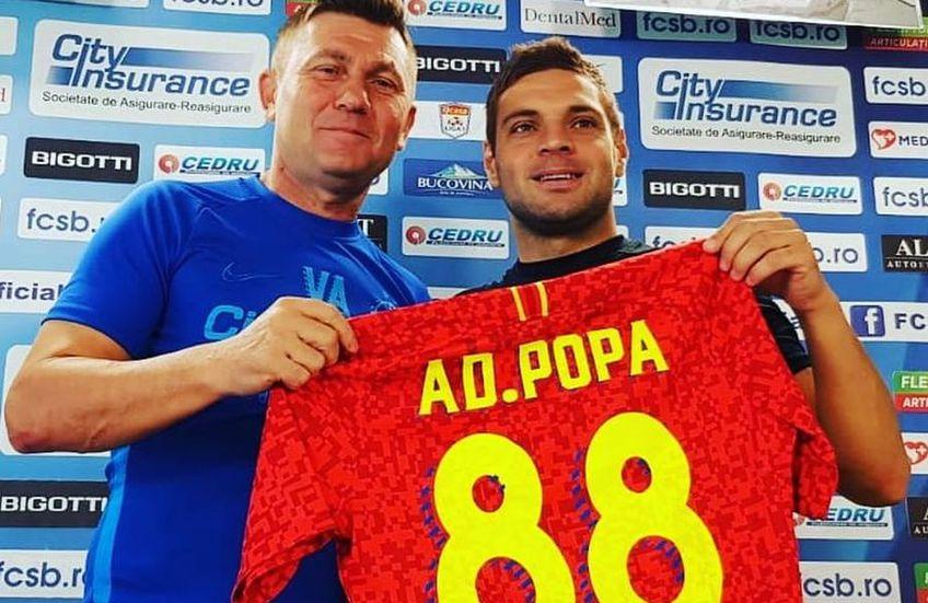 """Adi Popa s-a întors la FCSB vara trecută, dar evoluțiile sale nu au fost cele așteptate de finanțatorul Gigi Becali, care l-a ținut departe de primul """"11"""""""