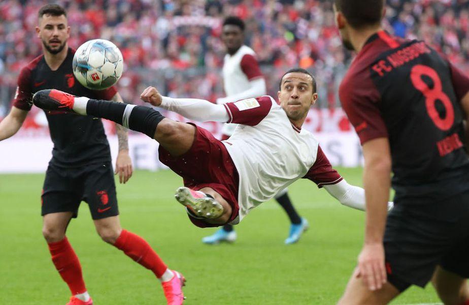 Mijlocașul Thiago Alcantara a primit un card spectaculos după triumful bavarezilor ăn Liga Campionilor.