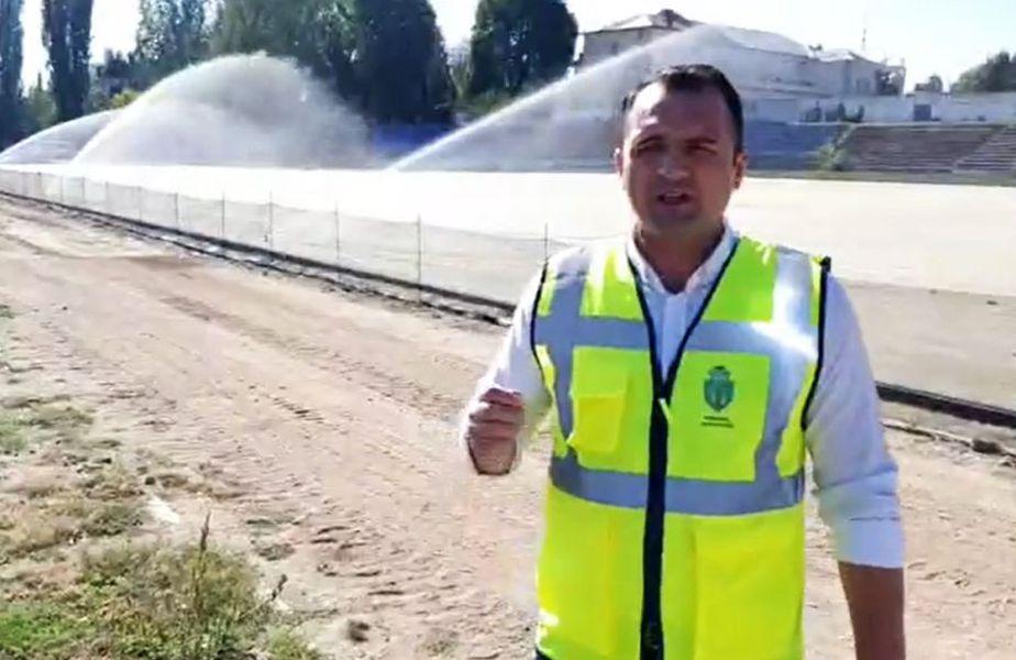 Primarul Daniel-Cristian Stan prezintă stadiul lucrărilor de la arena din Târgoviște