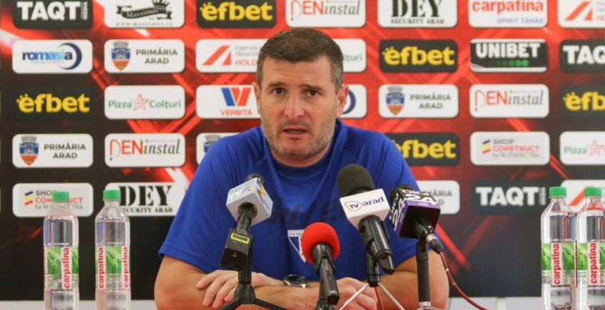 """UTA întâlnește Dinamo în deplasare, în ceea ce se anunță a fi cel mai greu meci pentru """"Bătrâna Doamnă"""" din acest start de campionat. Acesta este motivul pentru care, dinspre banca tehnică a arădenilor, vin încurajări suplimentare"""